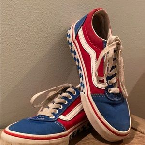 Vans size 1 Vans Red White and Blue Boys size 1